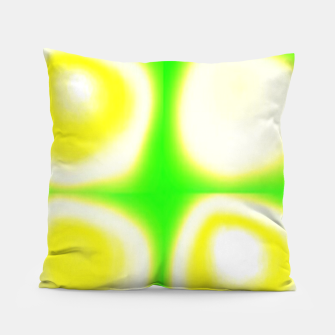 Thumbnail image of Glow circles on green Pillow, Live Heroes
