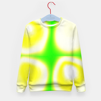 Thumbnail image of Glow circles on green Kid's sweater, Live Heroes