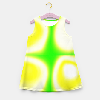 Thumbnail image of Glow circles on green Girl's summer dress, Live Heroes