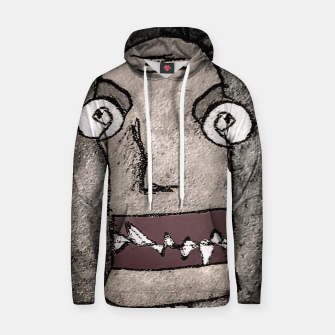 Thumbnail image of Sketchy Style Head Funny Creepy Drawing Hoodie, Live Heroes