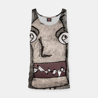 Thumbnail image of Sketchy Style Head Funny Creepy Drawing Tank Top, Live Heroes