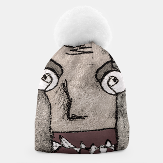 Thumbnail image of Sketchy Style Head Funny Creepy Drawing Beanie, Live Heroes