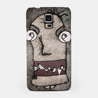 Thumbnail image of Sketchy Style Head Funny Creepy Drawing Samsung Case, Live Heroes