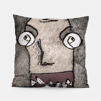 Thumbnail image of Sketchy Style Head Funny Creepy Drawing Pillow, Live Heroes