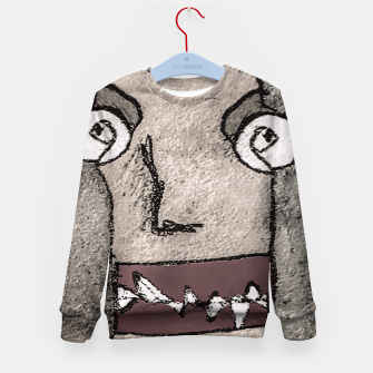 Thumbnail image of Sketchy Style Head Funny Creepy Drawing Kid's sweater, Live Heroes