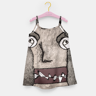 Thumbnail image of Sketchy Style Head Funny Creepy Drawing Girl's dress, Live Heroes