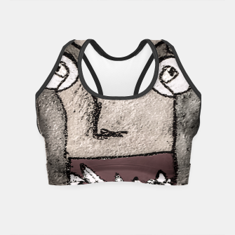 Thumbnail image of Sketchy Style Head Funny Creepy Drawing Crop Top, Live Heroes
