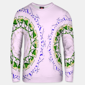 Thumbnail image of Abstract circles on pink Unisex sweater, Live Heroes