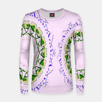Thumbnail image of Abstract circles on pink Women sweater, Live Heroes