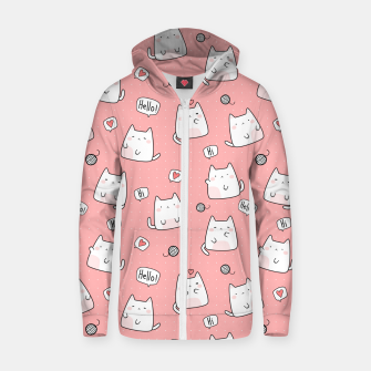 Thumbnail image of Chbby Cats Zip up hoodie, Live Heroes