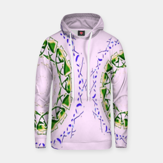 Thumbnail image of Abstract circles on pink Hoodie, Live Heroes