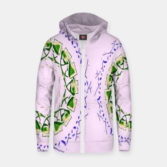 Thumbnail image of Abstract circles on pink Zip up hoodie, Live Heroes