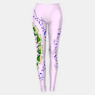 Thumbnail image of Abstract circles on pink Leggings, Live Heroes