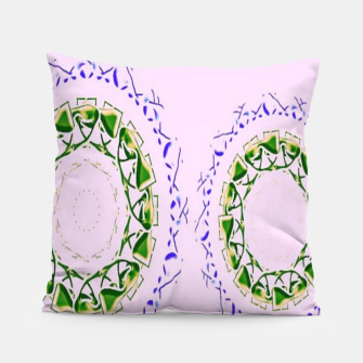 Thumbnail image of Abstract circles on pink Pillow, Live Heroes