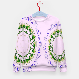 Thumbnail image of Abstract circles on pink Kid's sweater, Live Heroes