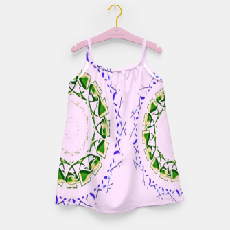 Thumbnail image of Abstract circles on pink Girl's dress, Live Heroes