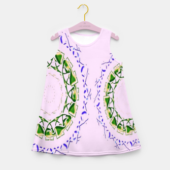 Thumbnail image of Abstract circles on pink Girl's summer dress, Live Heroes