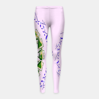 Thumbnail image of Abstract circles on pink Girl's leggings, Live Heroes