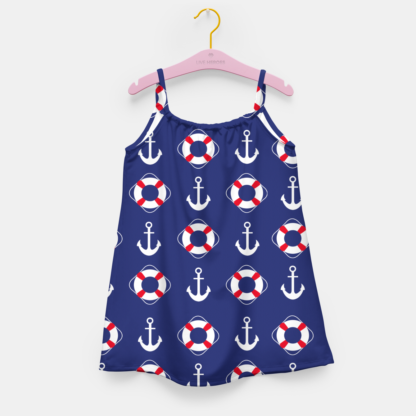 Image of GROOVY FUNK THING NAUTICAL Girl's dress - Live Heroes