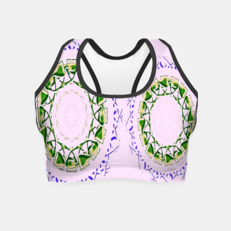 Thumbnail image of Abstract circles on pink Crop Top, Live Heroes