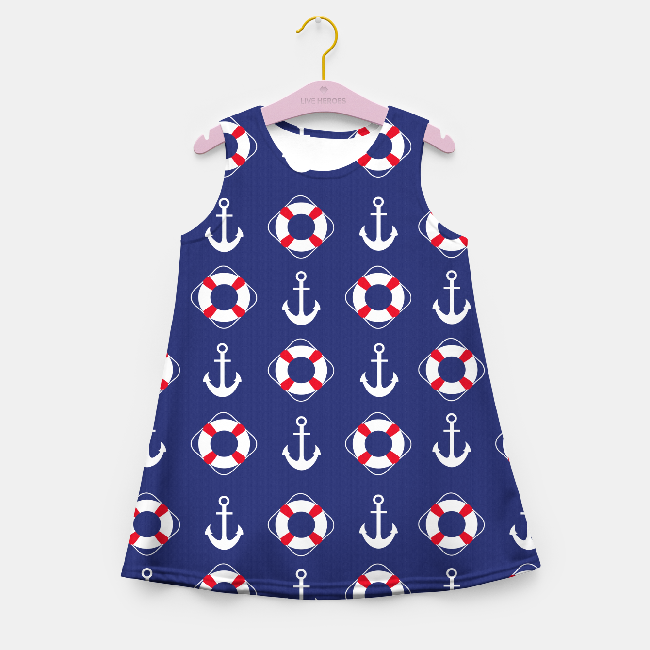 Image of GROOVY FUNK THING NAUTICAL Girl's summer dress - Live Heroes