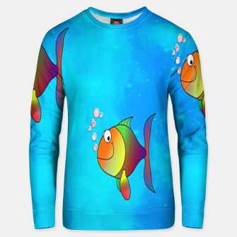 Thumbnail image of Cute colorful fishes on sea Unisex sweater, Live Heroes
