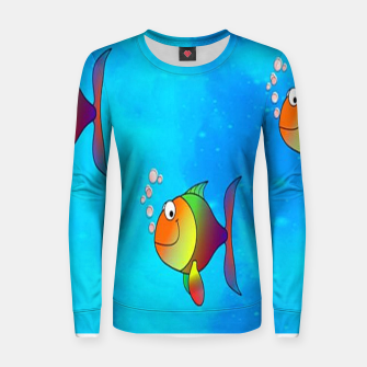 Thumbnail image of Cute colorful fishes on sea Women sweater, Live Heroes