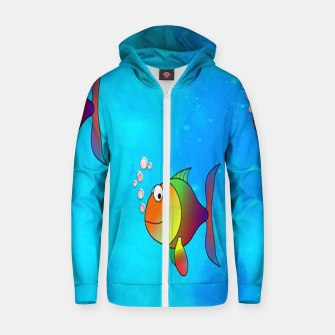 Thumbnail image of Cute colorful fishes on sea Zip up hoodie, Live Heroes