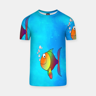 Thumbnail image of Cute colorful fishes on sea T-shirt, Live Heroes
