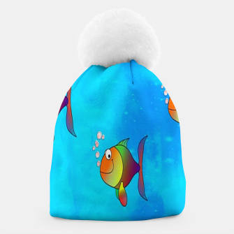 Thumbnail image of Cute colorful fishes on sea Beanie, Live Heroes