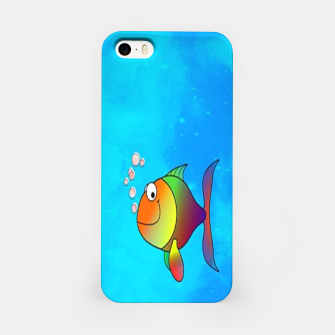 Thumbnail image of Cute colorful fishes on sea iPhone Case, Live Heroes