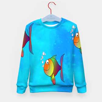 Thumbnail image of Cute colorful fishes on sea Kid's sweater, Live Heroes