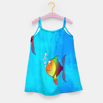 Thumbnail image of Cute colorful fishes on sea Girl's dress, Live Heroes