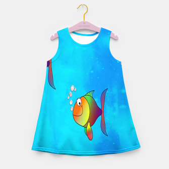 Thumbnail image of Cute colorful fishes on sea Girl's summer dress, Live Heroes
