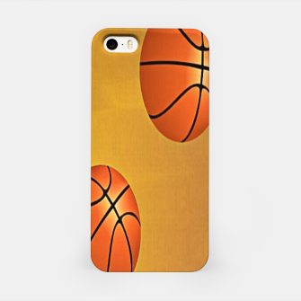 Miniatur Basketballs on brown iPhone Case, Live Heroes