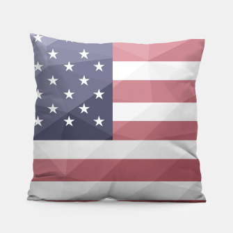 Thumbnail image of USA flag Red White Blue Geometric Mesh Pattern Pillow, Live Heroes