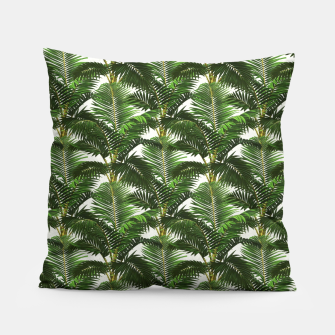 Thumbnail image of Jungle Style Palm Trees Pattern Artwork  Pillow, Live Heroes