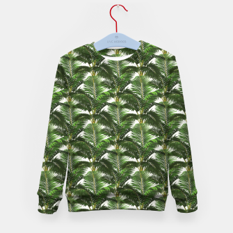 Thumbnail image of Jungle Style Palm Trees Pattern Artwork  Kid's sweater, Live Heroes