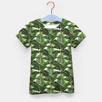 Thumbnail image of Jungle Style Palm Trees Pattern Artwork  Kid's t-shirt, Live Heroes