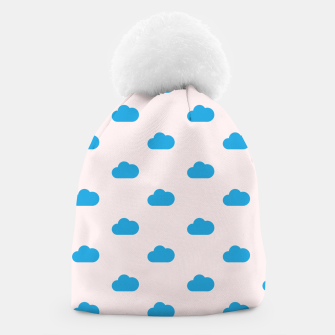 Thumbnail image of Kawaii blue clouds on pastel sky Beanie, Live Heroes