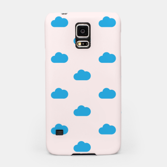 Thumbnail image of Kawaii blue clouds on pastel sky Samsung Case, Live Heroes