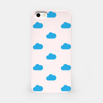 Thumbnail image of Kawaii blue clouds on pastel sky iPhone Case, Live Heroes