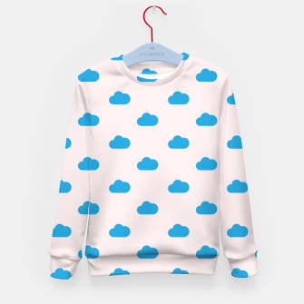 Thumbnail image of Kawaii blue clouds on pastel sky Kid's sweater, Live Heroes