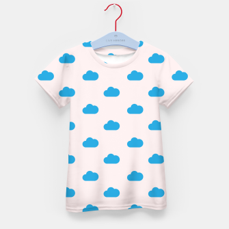 Thumbnail image of Kawaii blue clouds on pastel sky Kid's t-shirt, Live Heroes