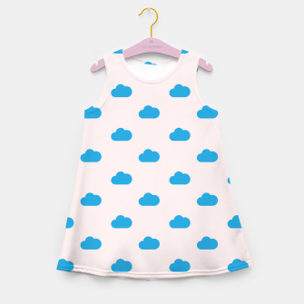 Thumbnail image of Kawaii blue clouds on pastel sky Girl's summer dress, Live Heroes