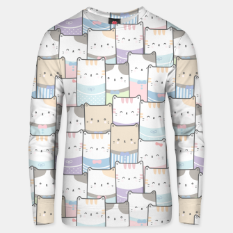 Thumbnail image of Cats Wall Unisex sweater, Live Heroes