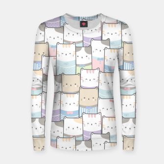 Thumbnail image of Cats Wall Women sweater, Live Heroes