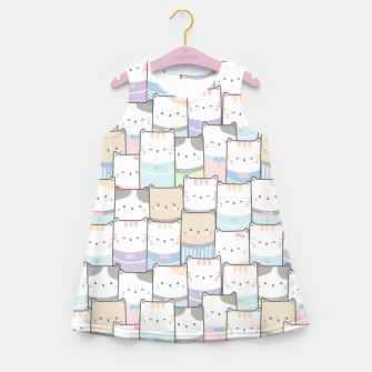 Thumbnail image of Cats Wall Girl's summer dress, Live Heroes