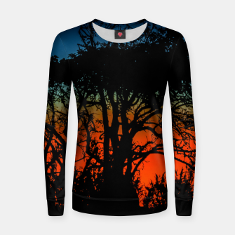 Thumbnail image of Sunset Colorful Nature Scene Women sweater, Live Heroes