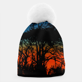 Thumbnail image of Sunset Colorful Nature Scene Beanie, Live Heroes